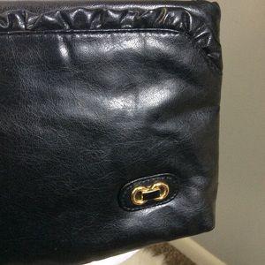 Vintage 80s black Crossbody Shoulder Bag Elegant